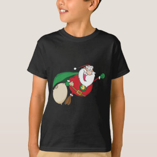 Super Santa Claus Fly T-Shirt