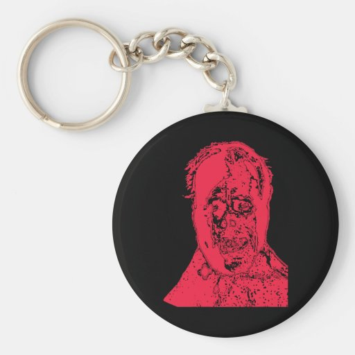 Super Scary Monster Face Products Basic Round Button Key Ring