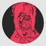 Super Scary Monster Face Products Round Sticker