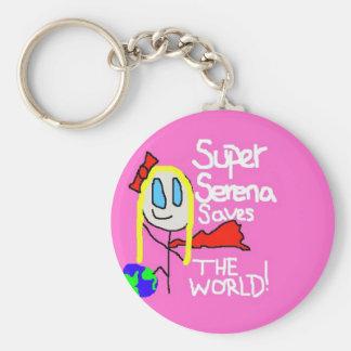 Super Serena Keychain! Basic Round Button Key Ring