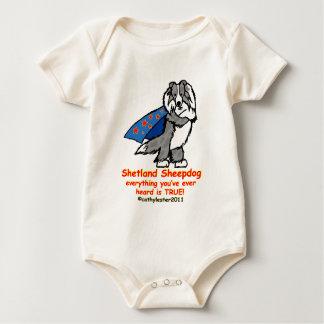 Super Sheltie Merle Baby Bodysuit