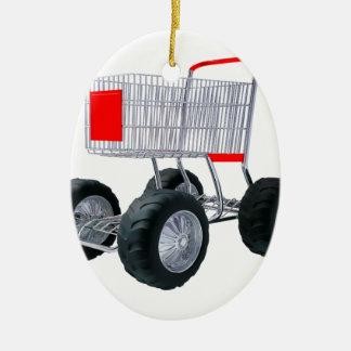 Super shopping cart christmas ornament