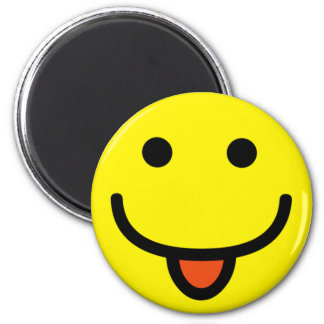Super Silly Smiley Face 6 Cm Round Magnet