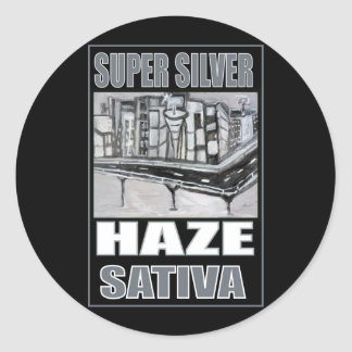 SUPER SILVER HAZE SATIVA CLASSIC ROUND STICKER