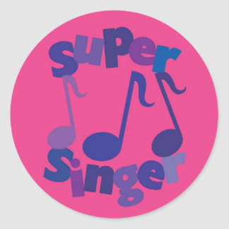 Super Singer Classic Round Sticker