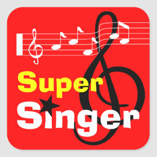 Super Singer School Sticker