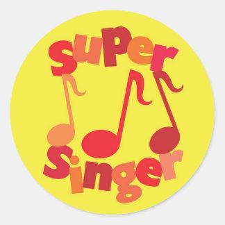 Super Singer Round Sticker