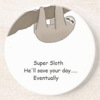 Super Sloth Hero Beverage Coasters