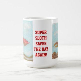 Super Sloth saves the day again! Basic White Mug