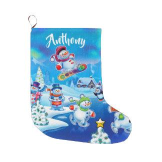 Super Snowman party custom Christmas stocking