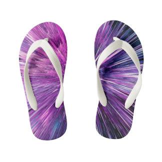 Super sonic - gorgeous purple kid's flip flops