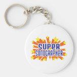 Super Sonographer Basic Round Button Key Ring