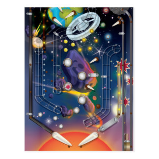 Super Space Pinball Machine Post Cards