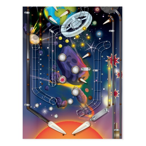 Super Space Pinball Machine Post Cards
