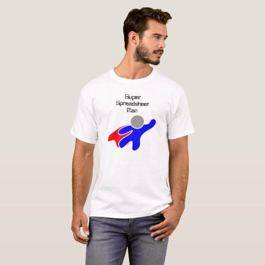 Super Spreadsheet Man T Shirt