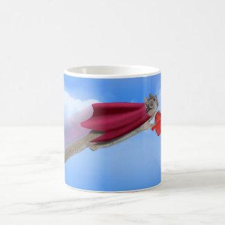 Super Squirrel Valentine Delivery Service Basic White Mug