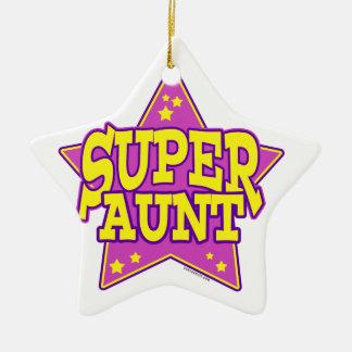 Super Star Aunt Ceramic Star Decoration