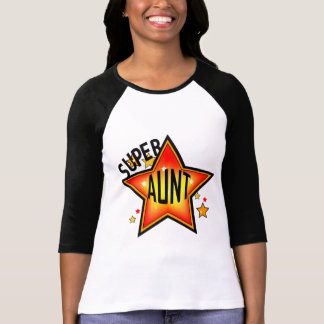 Super Star Aunt Ladies Raglan T-Shirt