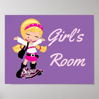 Super Star girl Poster
