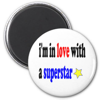 Super Star Love 6 Cm Round Magnet