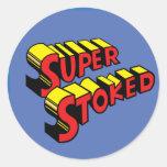Super Stoked Blue Sticker