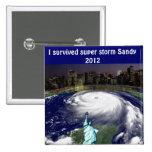 Super Storm Sandy 2012,Eye of the storm_ 15 Cm Square Badge