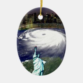 Super Storm Sandy 2012,Eye of the storm_ Ceramic Oval Decoration