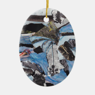 Super storm Sandy collage Christmas Ornament