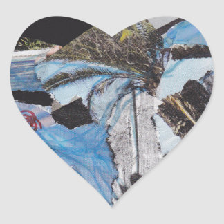 Super storm Sandy collage Heart Sticker