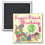 Super Sweet 3rd Birthday Tshirts and Gifts Square Magnet