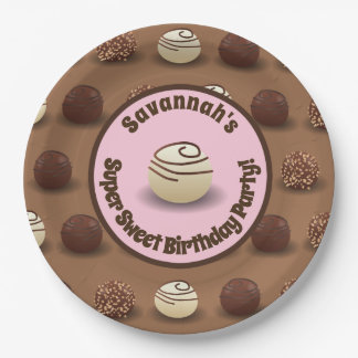 Super Sweet Chocolate Making Birthday Party Paper Plate