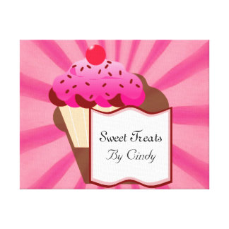 Super Sweet Cupcake Bakery Gallery Wrapped Canvas