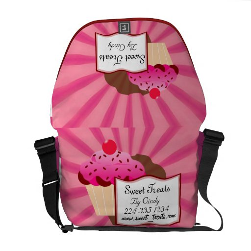 Super Sweet Cupcake Bakery Courier Bags