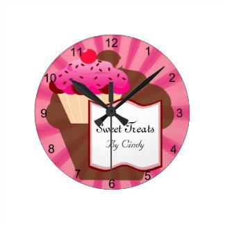Super Sweet Cupcake Bakery Wallclocks