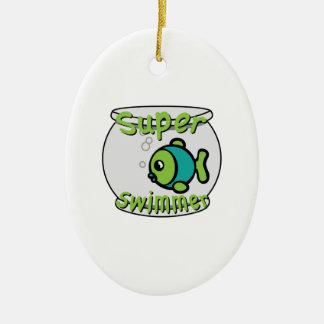 Super Swimmer Ceramic Oval Decoration