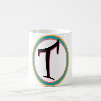 Super T Initial Basic White Mug