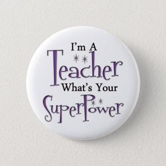 Super Teacher 6 Cm Round Badge