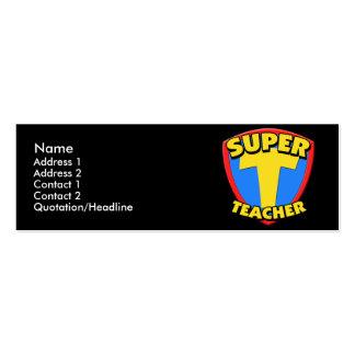 Super Teacher Skinny Profile Cards Business Card Template