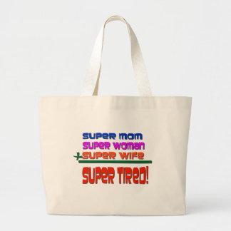 Super Tired! Large Tote Bag