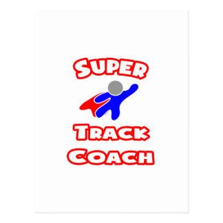 Super Track Coach Postcard
