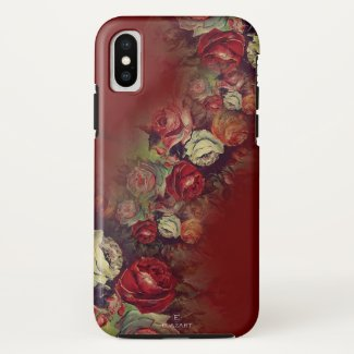 Super Trendy Red Floral Case-Mate iPhone Case