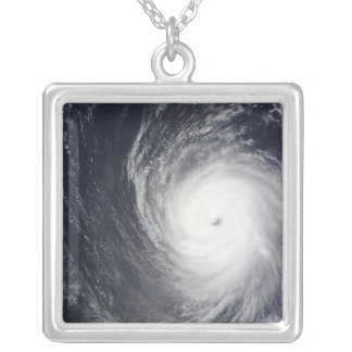 Super Typhoon Melor hovers over the Pacific Oce Silver Plated Necklace