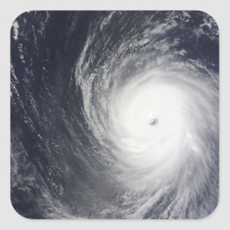 Super Typhoon Melor hovers over the Pacific Oce Square Sticker