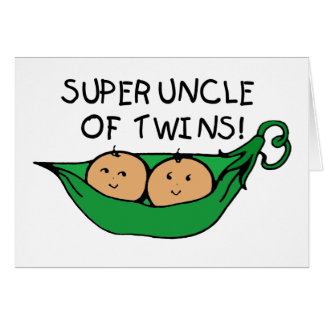 Super Uncle of Twins Pod Card