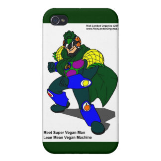 Super Vegan Man (Our Mascot) Gifts & Cards iPhone 4/4S Cases