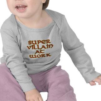 Super Villain at Work Baby Long Sleeved T-Shirts
