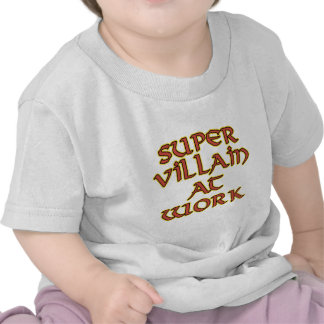 Super Villain at Work Baby T-Shirts Tops