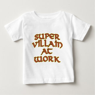Super Villain at Work Baby T-Shirts & Tops