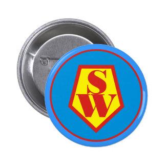 Super Woman 6 Cm Round Badge