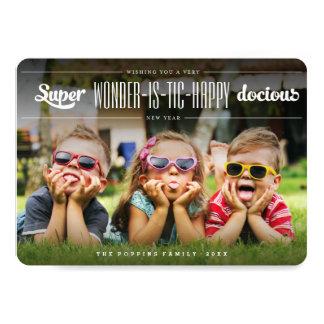 Super Wonderistic Happy New Year Fun Holiday Card 13 Cm X 18 Cm Invitation Card